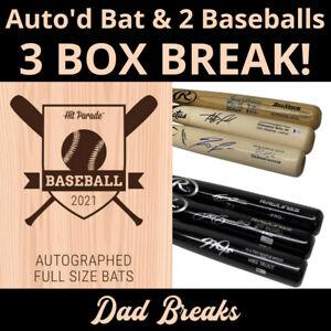 ST LOUIS CARDINALS MLB Hit Parade Signed Bat + 2 TriStar Baseball: 3 BOX BREAK