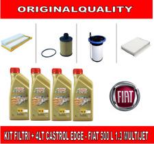 KIT TAGLIANDO 4 FILTRI + 4 LITRI OLIO CASTROL EDGE 5W30 FIAT 500L 1.3 D MULTIJET