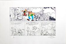 Serigraphie Asterix la distribution de la potion magique Uderzo Desbois