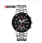 Curren 8006-2-Silver/Black/Black Stainless Steel Watch