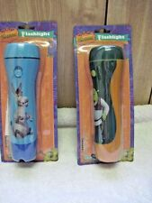 2 Dreamworks' Shrek & Donkey Ultra Bright Flashlight Set Torch Flash Light Blue