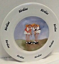 """Birdies"" Plate Erika Oller by House of Prrll 2000 Ladies Golfing"