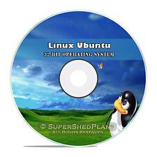 Linux Ubuntu 32 Bit 2017 Operating System DVD 17.04, Easy Windows Replacement OS