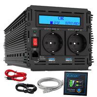 Convertisseur 3000W 6000W 12V 220V Onduleur DC AC LCD  Ports USB EDECOA