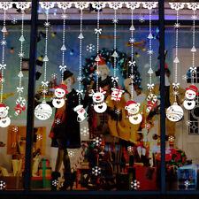 Sticker Autocollant Mural Bonhomme Neige Noël Cerf Décor Fenêtre Boutique Maison
