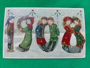 Pre 1914 New Year Greetings Postcard For 1908 Posted