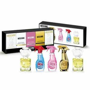 MOSCHINO Miniature Collection 5 x 5ml Eau De Toilette / Parfum XMAS GIFT