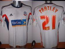 Bolton Wanderers PRATLEY Adidas 2014 Match Player Shirt Jersey Football Soccer L