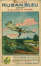 Image ancienne chromo Ruban bleu margarine série aviation Otto Lilienthal