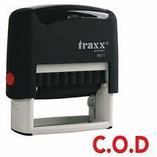 TRAXX 9011 38 x 14mm la (in contanti alla consegna) Auto-Inchiostrazione TIMBRO (inchiostro rosso)