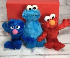Sesame Street Lot Cookie Monster Elmo Grover Plush Collection Elmo's World ABC