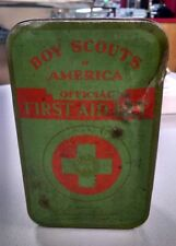 Vintage WWII Era BSA Boy Scouts Of America Official First Aid Kit c34