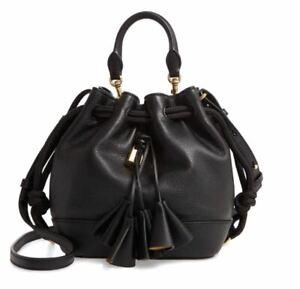 Marc Jacobs Sofia Loves Leather Drawstring Bucket Bag 3ple Tassel Black Dust Bag
