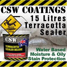 15L Terracotta Sealer - Moisture & Oily Stain Protection - NonSlip - Water Based