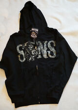 Sons of Anarchy Men's Hoodie Reaper Zippered Jacket Black NWT Small