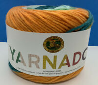 Lion Brand Yarn 221-610 Yarnado Yarn, Tidal Wave, Medium Wt; 187 Yds; One Cake