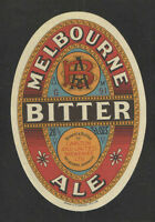 MELBOURNE BITTER ALE BEER BOTTLE LABEL 26 2/3 OZ - AUSTRALIA - UNUSED