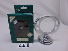 SOLID BRASS WALL MOUNT TOOTHBRUSH & TUMBLER HOLDER NOS-COLOR ROTAL CHROME