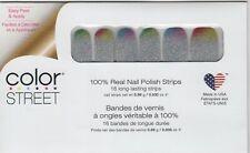 Color Street Nail Polish Strips Throwing Shade Rainbow Glitter Designs USA Made