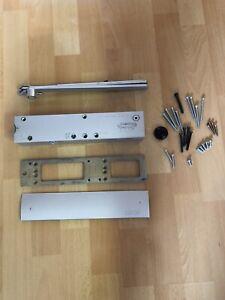 Türschließer GEZE TS4000 silber komplett mit Montageplatte