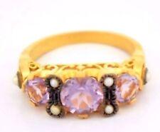 Ringe mit Edelsteinen aus Sterlingsilber 16,2 mm Ø) Amethyst (51-100 echten