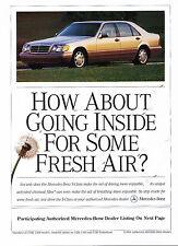 Mercedes S-Klasse Coupe Prospekt 1994 1//94 S 420 500 600 brochure broschyr Auto
