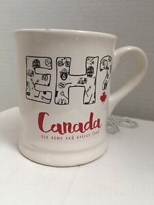 Canada Eh Magenta Coffee Mug Our Home Native Land Maple Leaf Cup