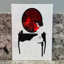 Star Wars & Disney Wonderground Princess Leia Vanity Postcard by Ashley Taylor
