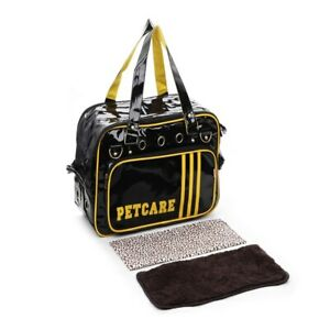 Pu Sport Design Pet Dogs Carrier Bag Pet Cage with Locking Safety Travel Carrier