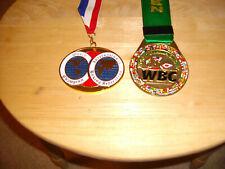 WBC & IBF CHAMPIONSHIP BOXING  MEDALS MEDALLIONS  METAL