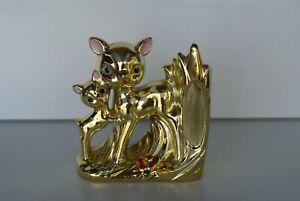 VINTAGE KITSCH 1960's GOLD LUSTRE WARE BAMBI VASE ORNAMENT  Japan