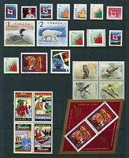 Canada 1998 Year Set NH, 119 Stamps - 10 Sheets & 77 Stamps, Complete By Scott