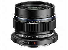 Olympus M.ZUIKO DIGITAL ED 12mm F2.0 Lens Black  Japan Domestic Version New