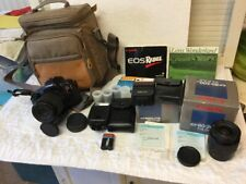 Canon EOS Rebel Complete Full Outfit w 2 Lenses 2 Speedlite Flash - Super Clean