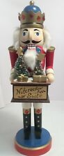 """Wooden Christmas Nutcracker Suite King Bearing Gifts 13"""" Tall All Hollidays.com"""