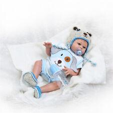 "Waterproof Reborn Baby Dolls Boy Full Body Silicone 20"" Newborn Baby Doll Gift"
