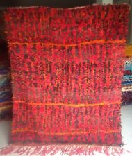 vintage Moroccan, Mrirt Tribal woollen red rug 233 x 186cm