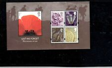 Great Britain #2530a 2007 Lest We Forget Mint Vf Nh O.G S/S