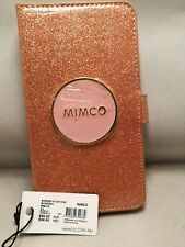 BRAND MIMCO SHIMMER FLIP CASE FOR IPHONE 8P/7P/6P PLUS 0ROSEGOLD