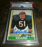 1974 TOPPS #230 Dick Butkus CHICAGO BEARS Signed Authentic Autograph PSA/DNA