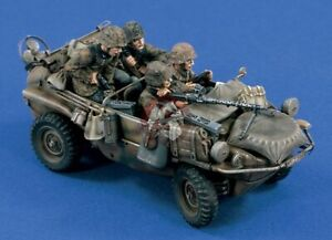 Verlinden 1/35 German VW Schwimmwagen Crew WWII (4 Figures) (for Tamiya) 1467