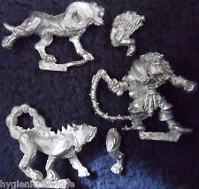 1990 MARAUDEUR CHAOS MM93 beastmaster avec chiens WARHAMMER armée guerre maître chien