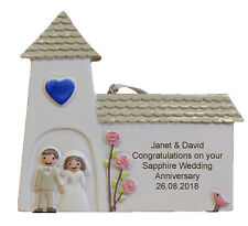 Sapphire (45th) Wedding Anniversary Personalised Engraved Gift