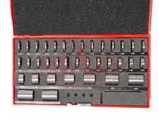 SHARS 36 PCS STEEL ROUND GAGE SPACE BLOCK HARDENED BLOCKS GAGES SET