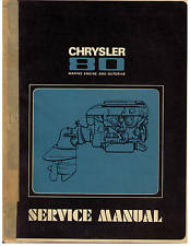 1981 CHRYSLER MODEL M-80 MARINE ENGINE & OUTDRIVE SERVICE MANUAL
