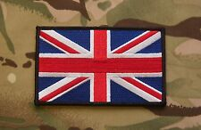 "Large Uk Flag Patch 5"" x 3"" Sas Sbs Srr Sfsg Usksf Royal Marines Tier 1 Velcro®"