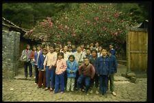 015007 escolares en Templo Lijiang Yunnan A4 Foto Impresión