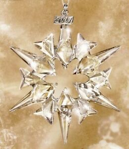 SWAROVSKI SILVER CRYSTAL 2007 CHRISTMAS STAR MINT IN BOX  872200 RETIRED