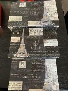 Paris - Set Of 3 XL Large nesting flap lid boxes Punch Studio