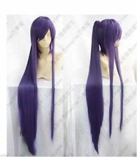 New Long Vocaloid Miku Gakupo Purple Cosplay Wig Clip On Ponytails